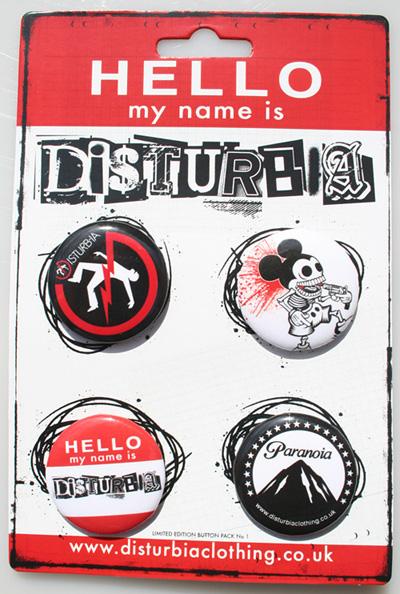 Top 5 Button Packs - Disturbia