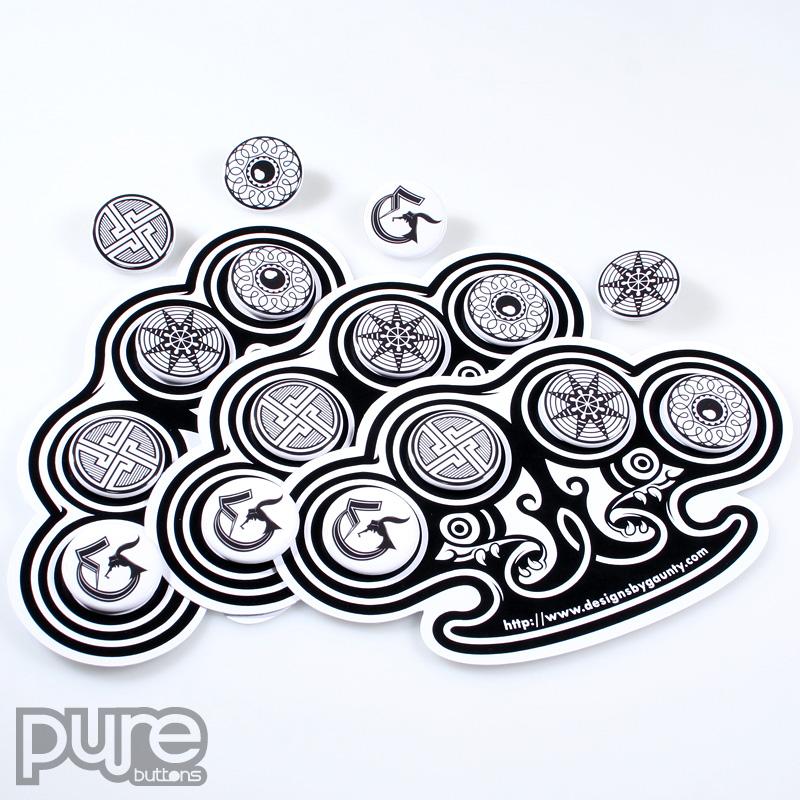 Custom Diecut Button Packs