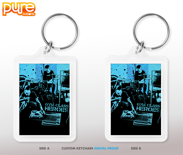 Custom Keychain Digital Proof