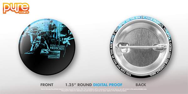 Round Custom Button Digital Proof