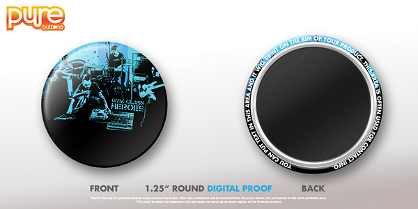 Round Custom Magnet Digital Proof