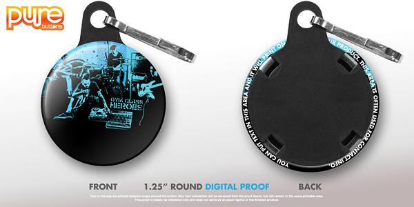 Round Custom Zipper Pull Digital Proof