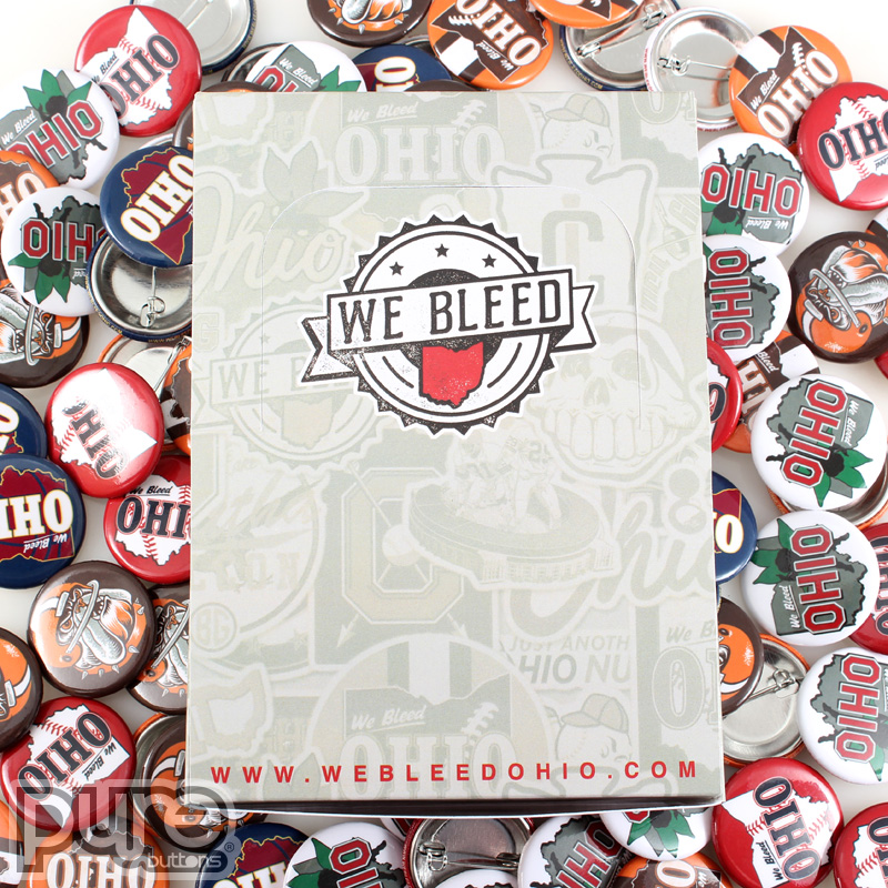 Custom Button Boxes for We Bleed Ohio