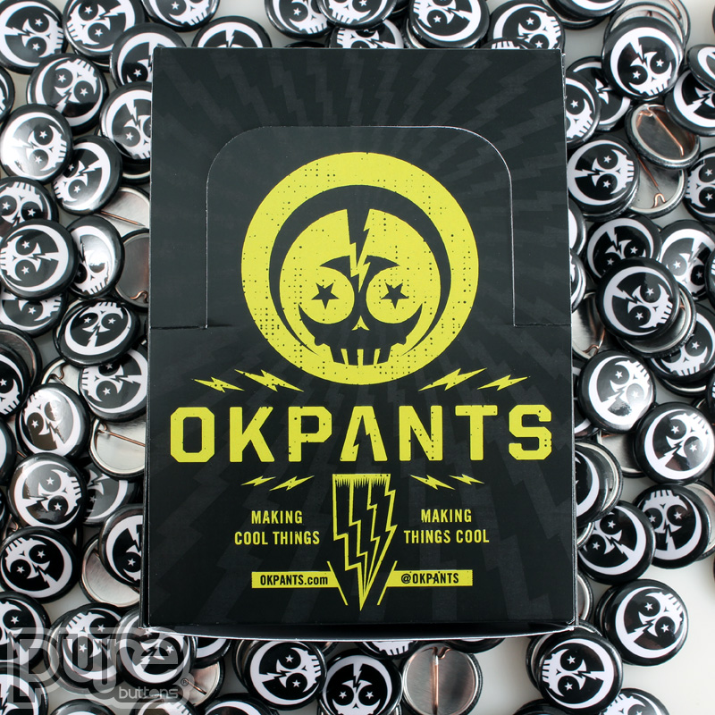Custom Button Boxes for OKPants Design