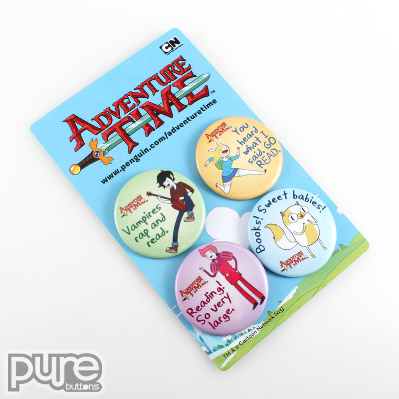 Adventure Time Custom Button Packs