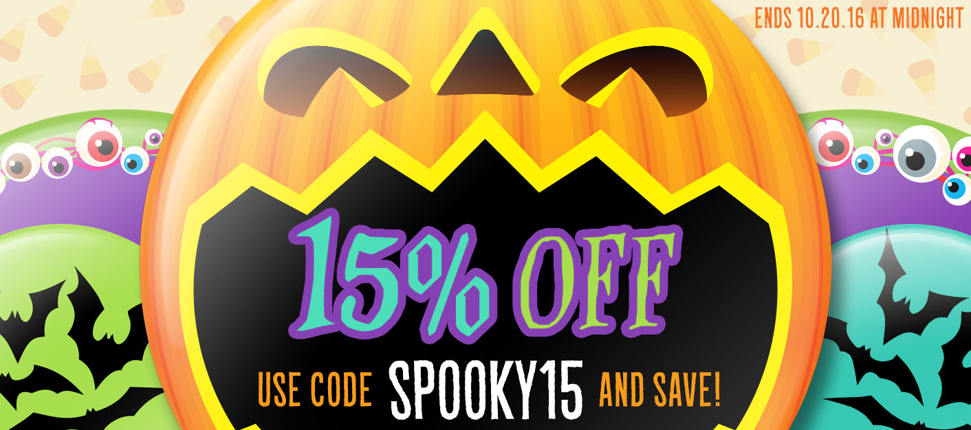 15% OFF with coupon code SPOOKY15