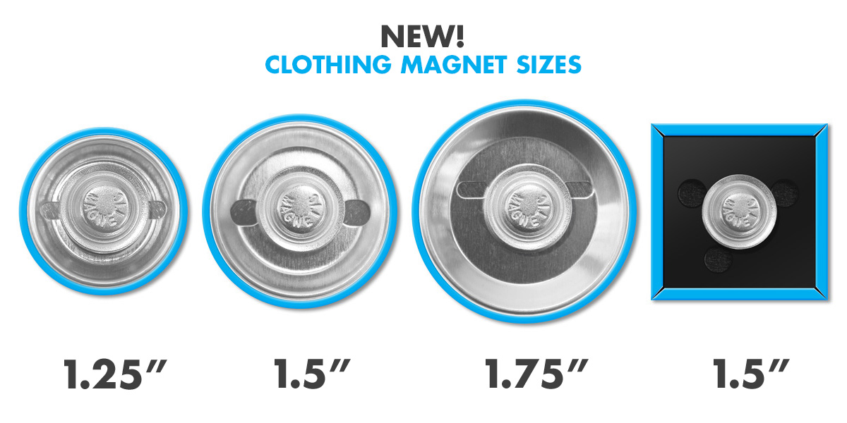 New Clothing Magnet Sizes