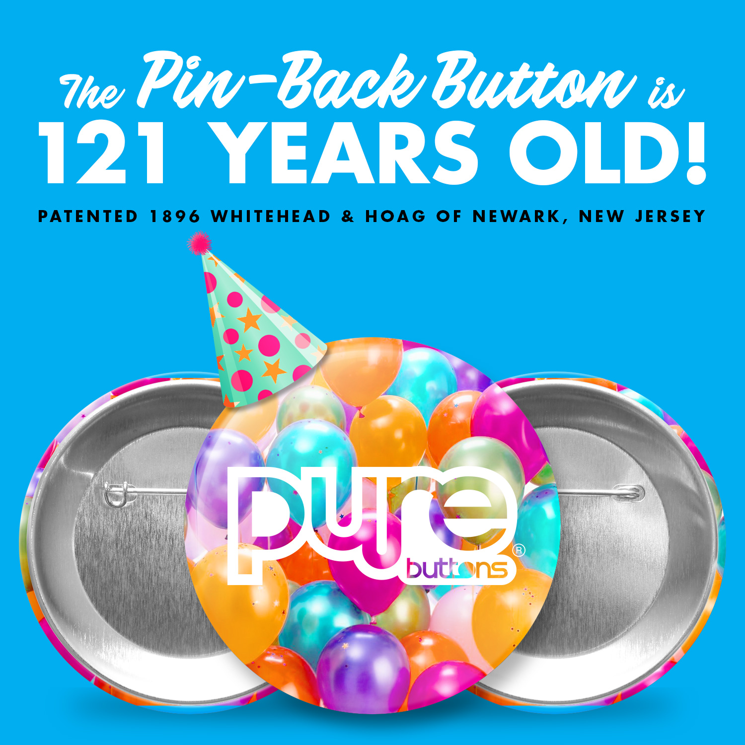 121st Birthday of Pin-Back Buttons