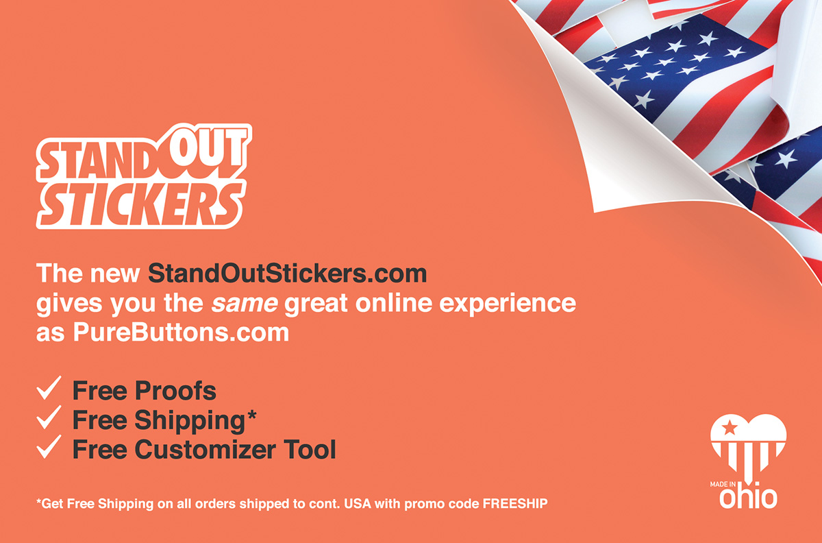 Custom Buttons Custom Fridge Magnets TheButtonPostcom By - Free promotional custom vinyl stickers