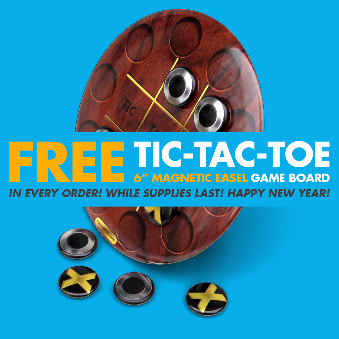 Free Tic-Tac-Toe Game Board while supplies last!