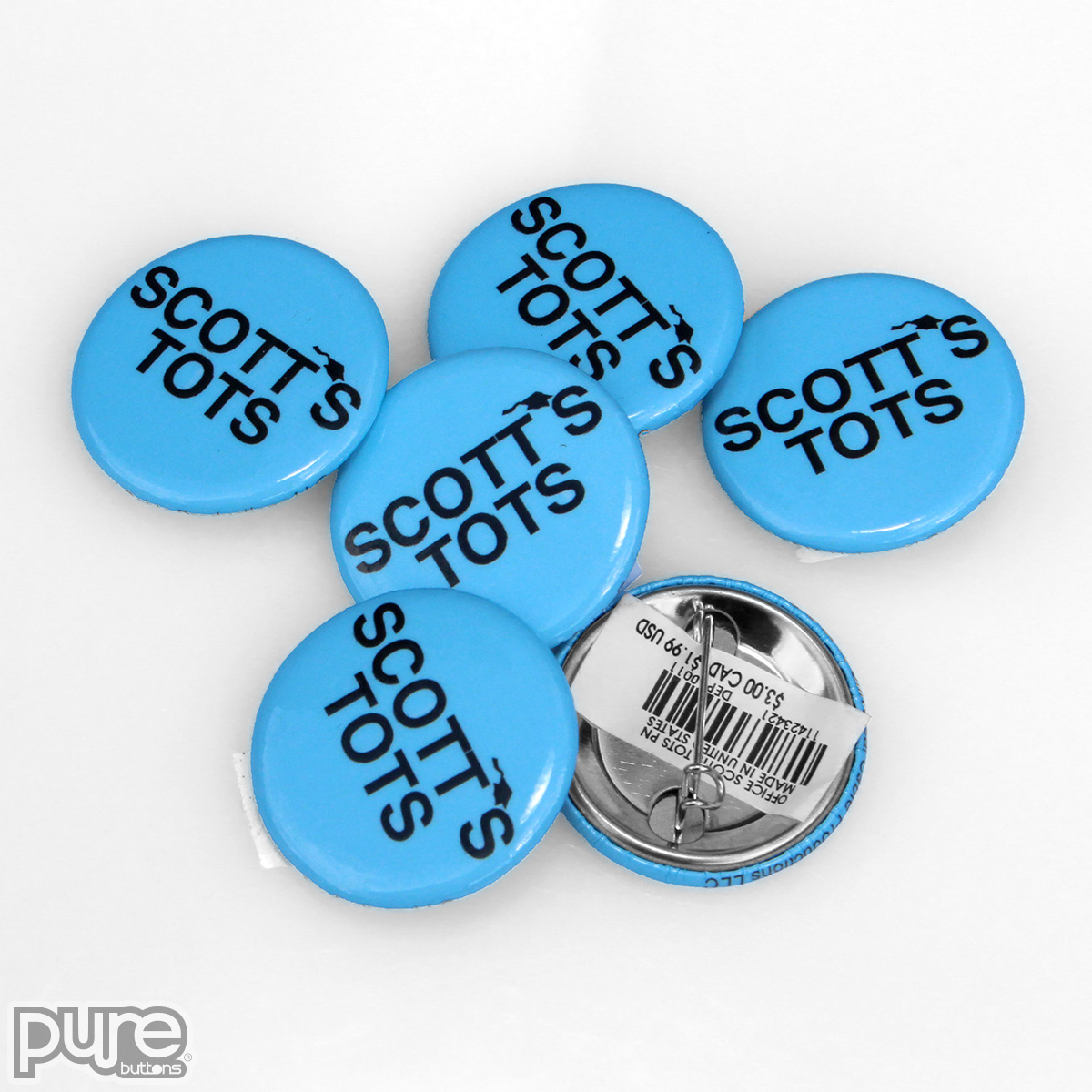 The Office NBC Official Merchandise - Scott's Tots Custom Button Pins