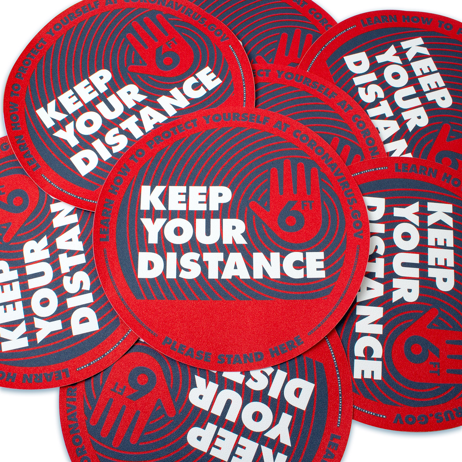 Keep Your Distance Floor Decal